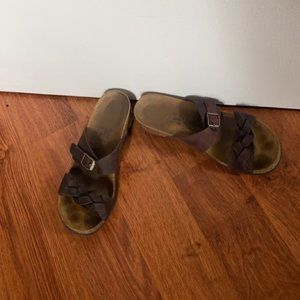 Brown Birkenstock Papillo Wedge Sandals